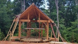 Eastern White Pine Timber Frame Pavilion